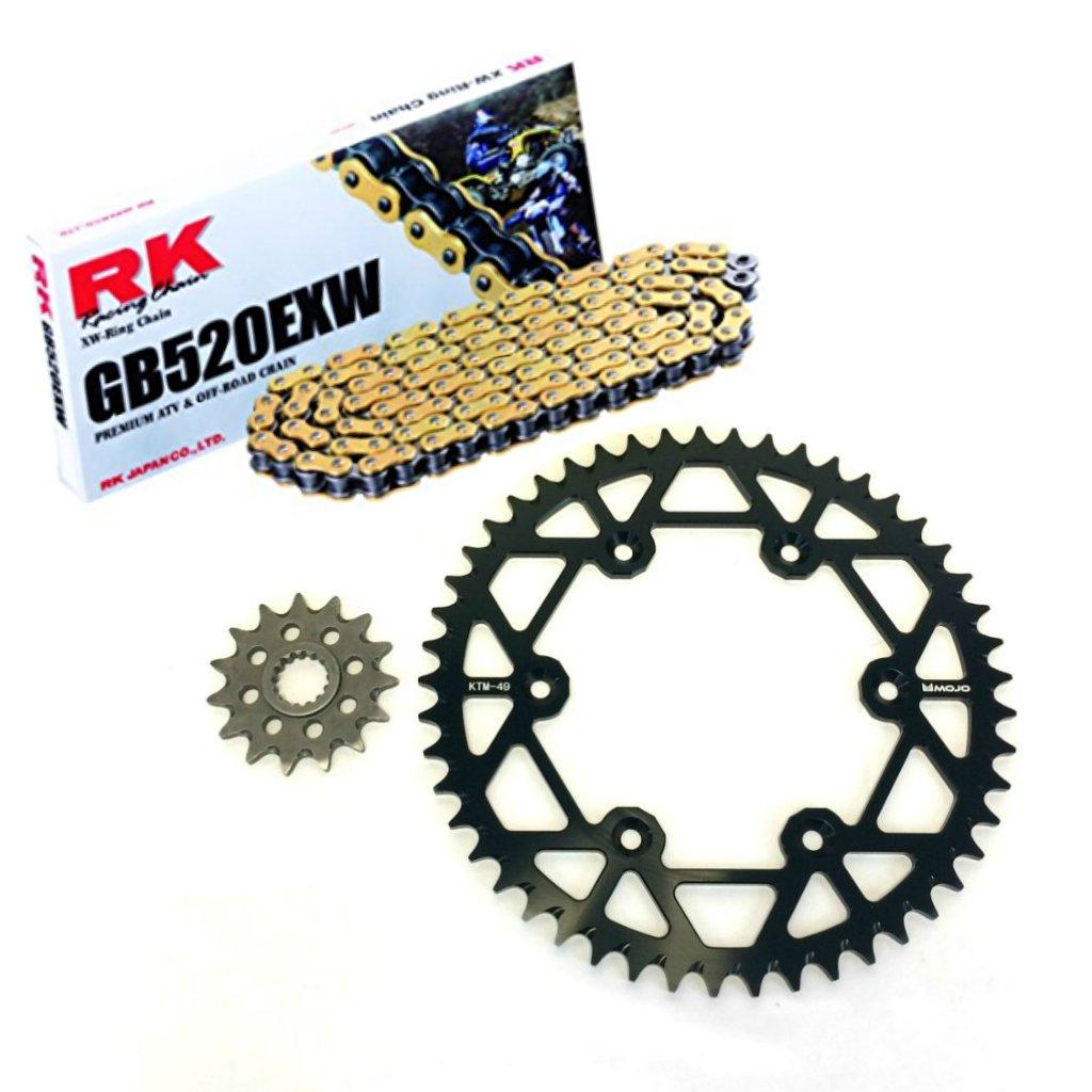 KTM Chain and Sprocket Kit - Black - MOJO-KTM-CSK-BLK