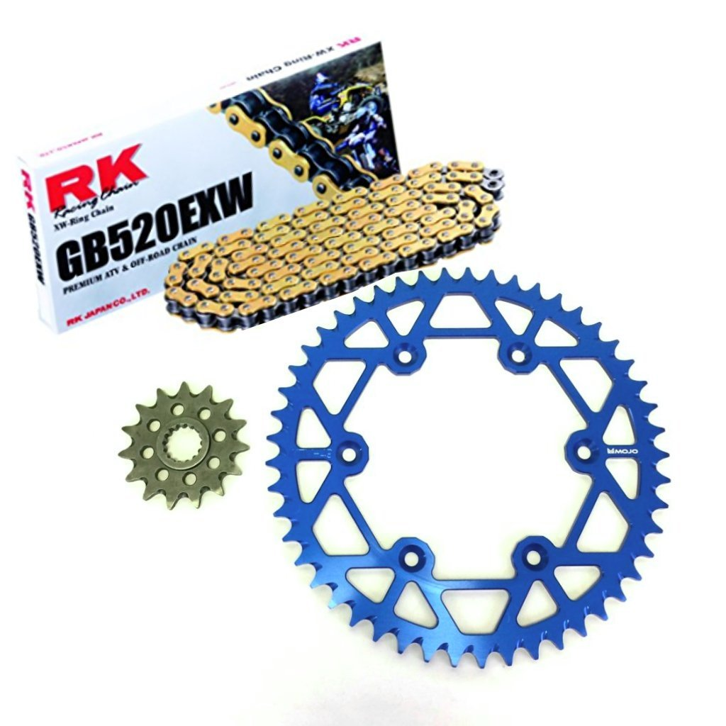 KTM Chain and Sprocket Kit Dark Blue   MOJO-KTM-CSK-BLU