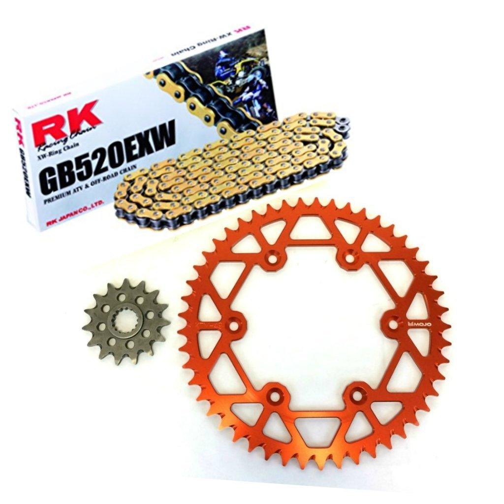 KTM Chain and Sprocket Kit - Orange - MOJO-KTM-CSK-ORG