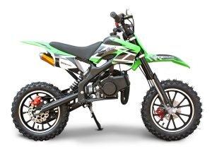 SYX MOTO Holeshot 50cc Mini Dirt Bike Gas Powered 2-Stroke Off Road Pit Bike Motorcycle, Green