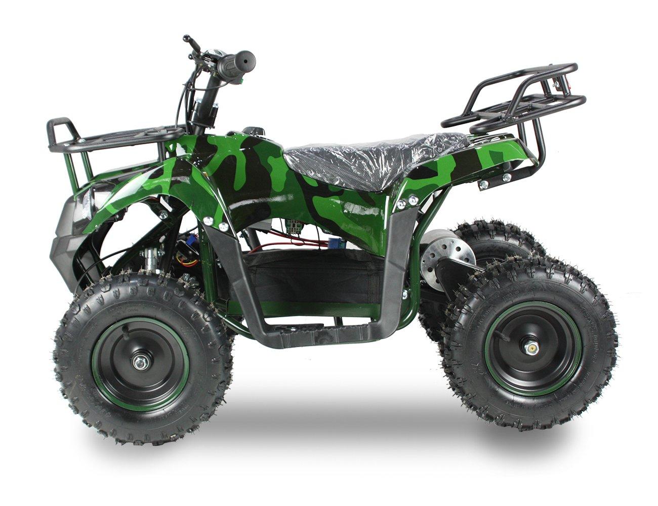 SYX MOTO 36V 800W Tank Mini ATV Dirt Quad Off Road 4 Wheelers, Camo Green